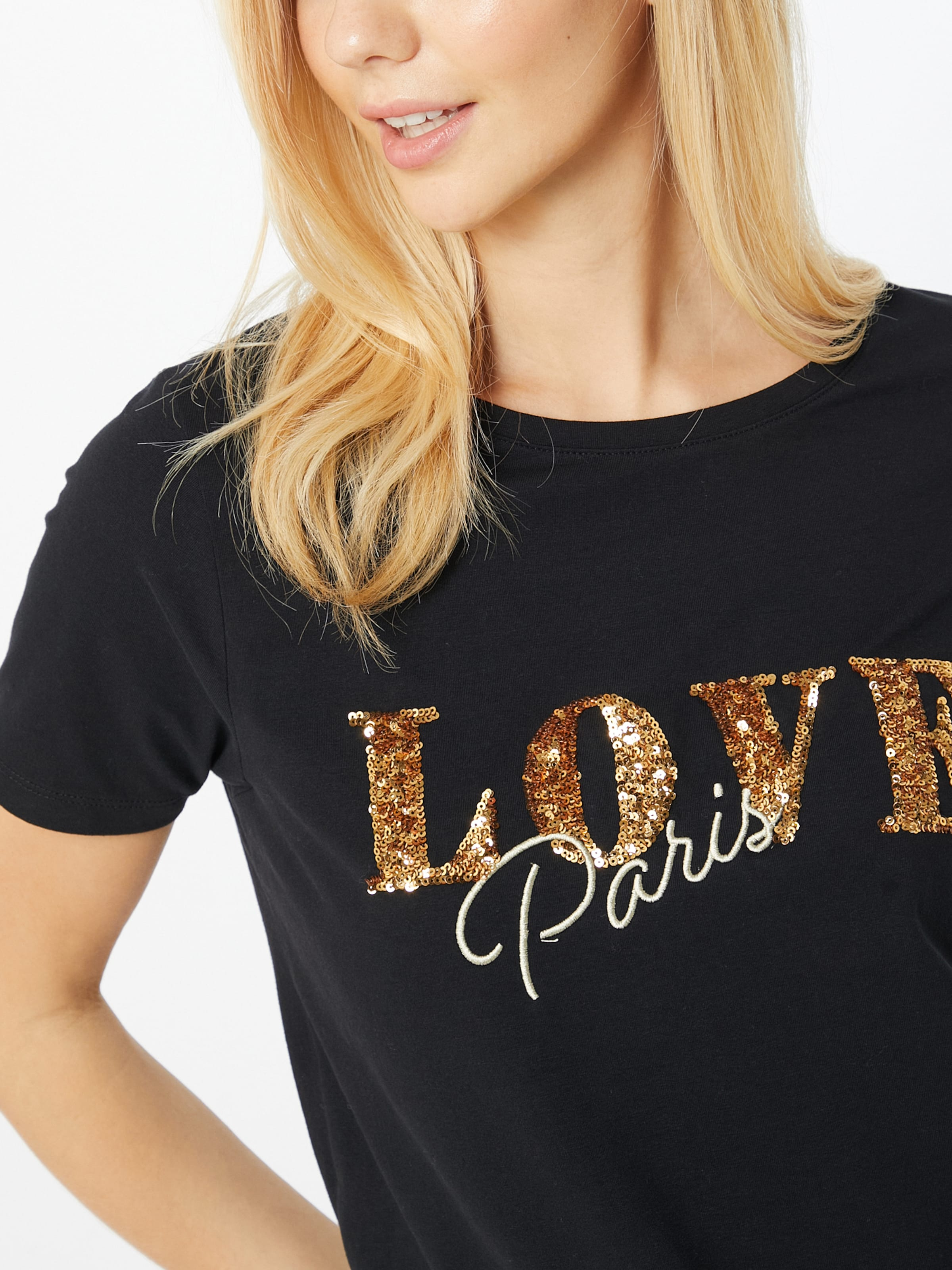 b.young Póló 'Pandina Paris' arany / fekete színben