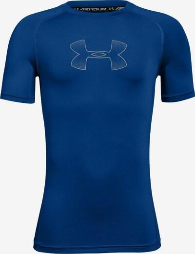 UNDER ARMOUR Functioneel shirt 'Heatgear' in de kleur Kobaltblauw / Wit, Productweergave