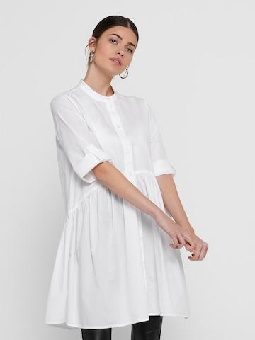 Rochie tip bluză 'Chicago Life' de la ONLY pe alb