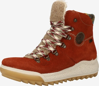 RIEKER Boots en beige / rouille / brun foncé / poudre, Vue avec produit