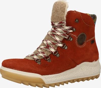 RIEKER Boots in beige / rostbraun / dunkelbraun / puder, Produktansicht