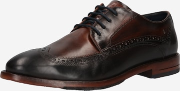 bugatti Обувки с връзки 'Livorno' в кафяво