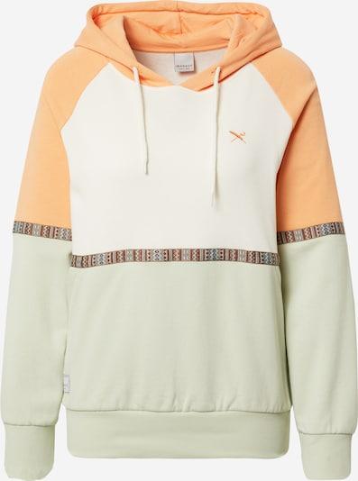 Iriedaily Sweatshirt 'Kachina' in hellblau / pastellgrün / mandarine / weinrot / weiß, Produktansicht