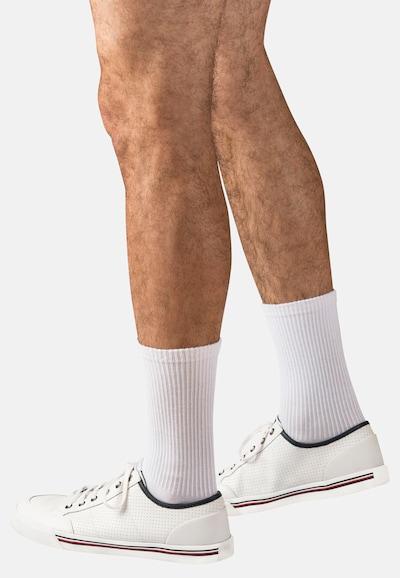 Classics Tennissocken 'Crew Socks' in grau / schwarz / weiß: Frontalansicht