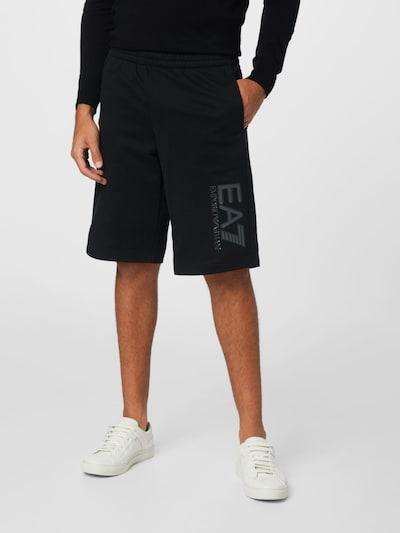EA7 Emporio Armani Hose in dunkelgrau / schwarz, Modelansicht