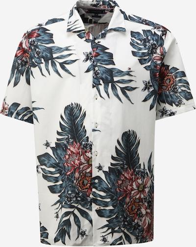 TOMMY HILFIGER Hemd in senf / dunkelgrün / weinrot / weiß, Produktansicht