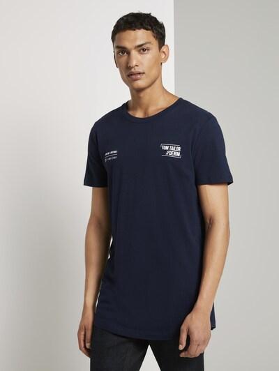 TOM TAILOR DENIM Shirt in dunkelblau: Frontalansicht