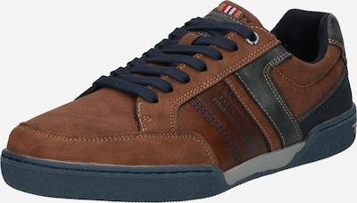TOM TAILOR Sneaker in blau / cognac, Produktansicht