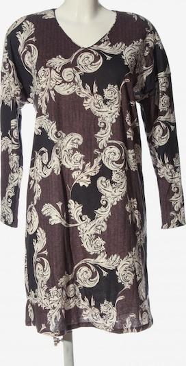 CALIDA Langarmkleid in XS in braun / schwarz / wollweiß, Produktansicht