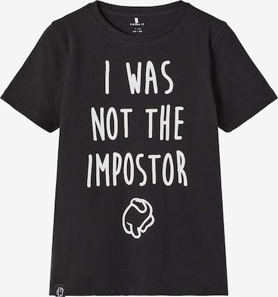 NAME IT T-Shirt in schwarz / weiß, Produktansicht