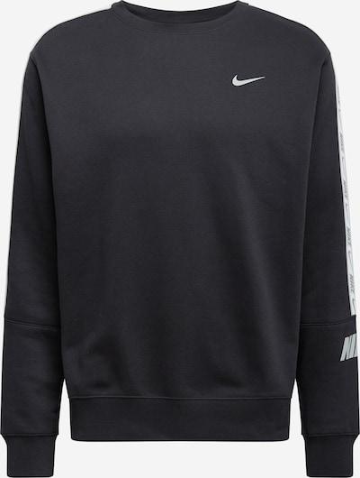 Nike Sportswear Sweatshirt 'REPEAT' i lysegrå / sort / hvid, Produktvisning