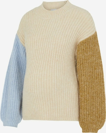 MAMALICIOUS Sweater 'PCMESSI' in Beige