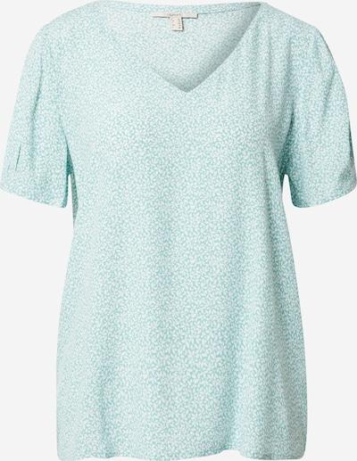 ESPRIT Μπλούζα 'Marocian' σε τιρκουάζ / λευκό, Άποψη προϊόντος