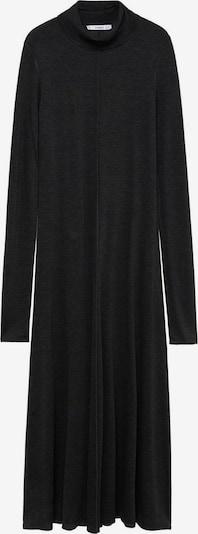 MANGO Úpletové šaty 'Almi' - tmavě šedá: Pohled zepředu
