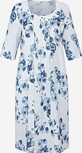 Anna Aura Avondjurk in de kleur Blauw / Wit, Productweergave