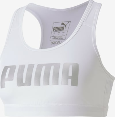 PUMA Sport bh in de kleur Lichtgrijs / Wit, Productweergave