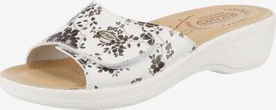 FLY FLOT Pantolette 'Komfort' in beige / braun / weiß, Produktansicht