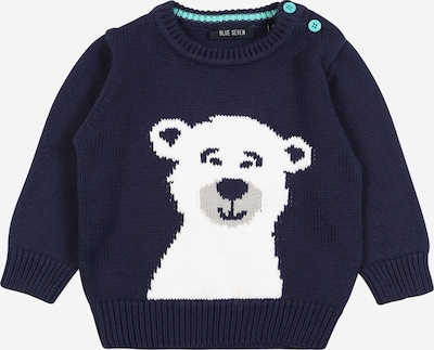 BLUE SEVEN Pullover in dunkelblau / weiß, Produktansicht