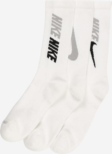 NIKE Sportsocken en grau / schwarz / weiß, Vue avec produit