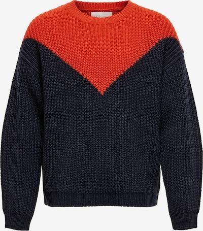 KIDS ONLY Pullover in dunkelblau / orange, Produktansicht