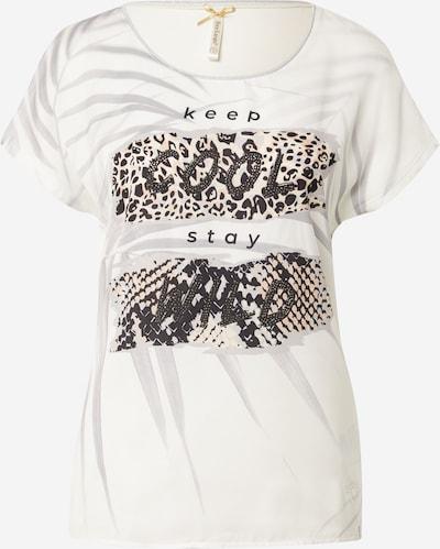 Tricou Key Largo pe gri / roz pudră / negru / alb natural, Vizualizare produs