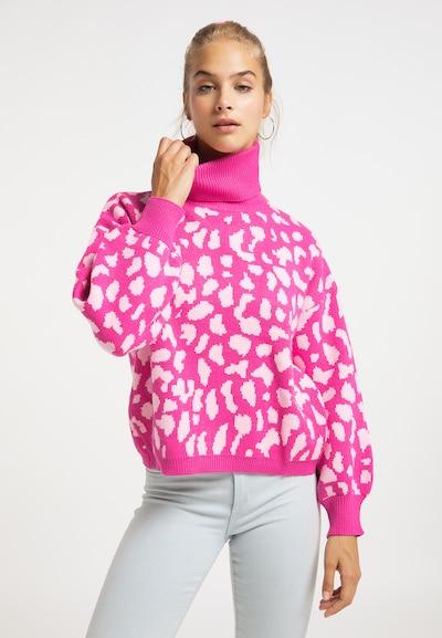 MYMO Pullover in pink / weiß, Modelansicht