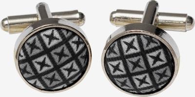 ETERNA Manchetknopen in de kleur Grijs / Zwart / Zilver, Productweergave