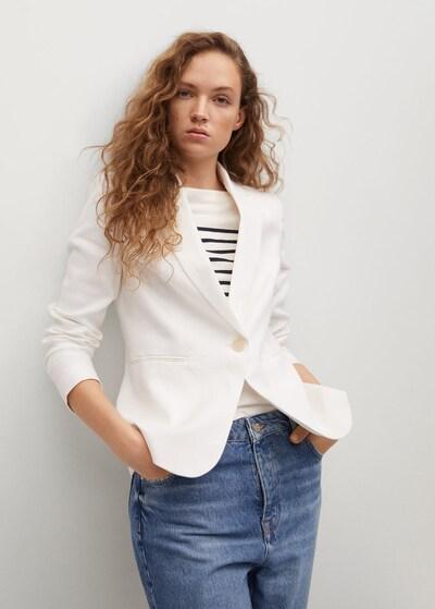 MANGO Blazer in weiß, Modelansicht