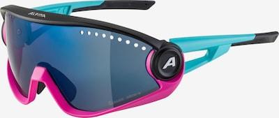 Alpina Sportbrille in türkis / dunkelblau / pink / schwarz, Produktansicht