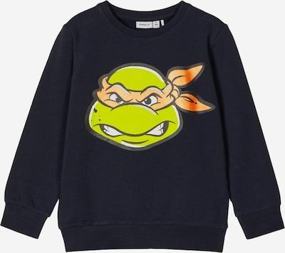 NAME IT Sweatshirt in de kleur Navy / Groen / Sinaasappel, Productweergave
