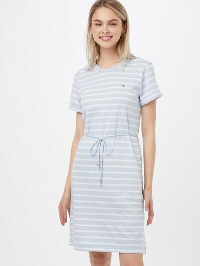 TOMMY HILFIGER Kleid in hellblau / weiß, Modelansicht