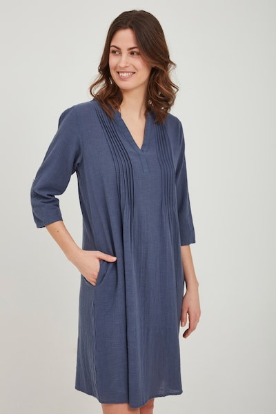 Fransa Blusenkleid in blau / indigo, Modelansicht
