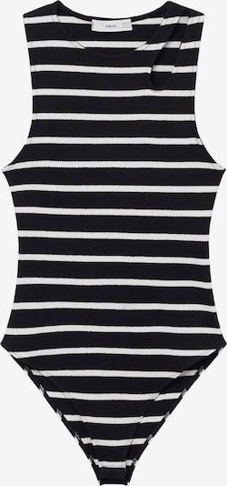 MANGO Bodi majica 'VIGO' u crna / prljavo bijela, Pregled proizvoda
