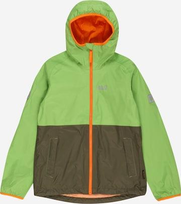 JACK WOLFSKIN Outdoorjacka 'Rainy Days' i grön