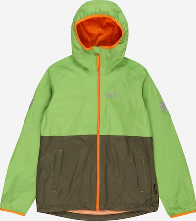 JACK WOLFSKIN Jacke 'Rainy Days' in khaki / dunkelgrün / orange, Produktansicht