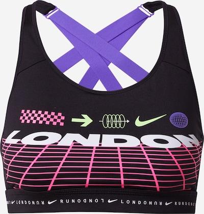 NIKE Sport-BH 'Impact London' in lila / pink / schwarz / weißmeliert, Produktansicht