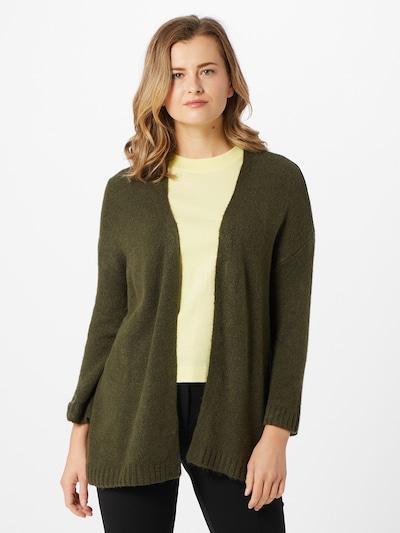 JACQUELINE de YONG Strickjacke 'Elanora' in dunkelgrün, Modelansicht