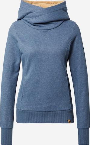 Fli PapiguSweater majica 'Schönste Frau in Stadt' - plava boja