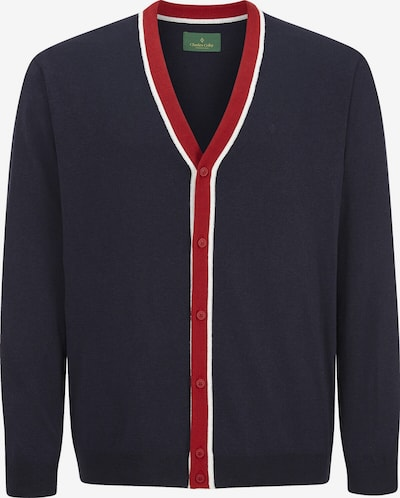 Charles Colby Gebreid vest 'Payton' in de kleur Marine / Rood / Wit, Productweergave