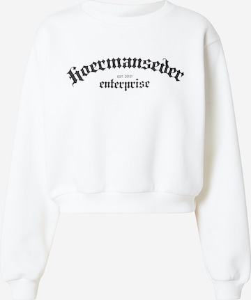 Hoermanseder x About You Sweatshirt 'Ela' in White