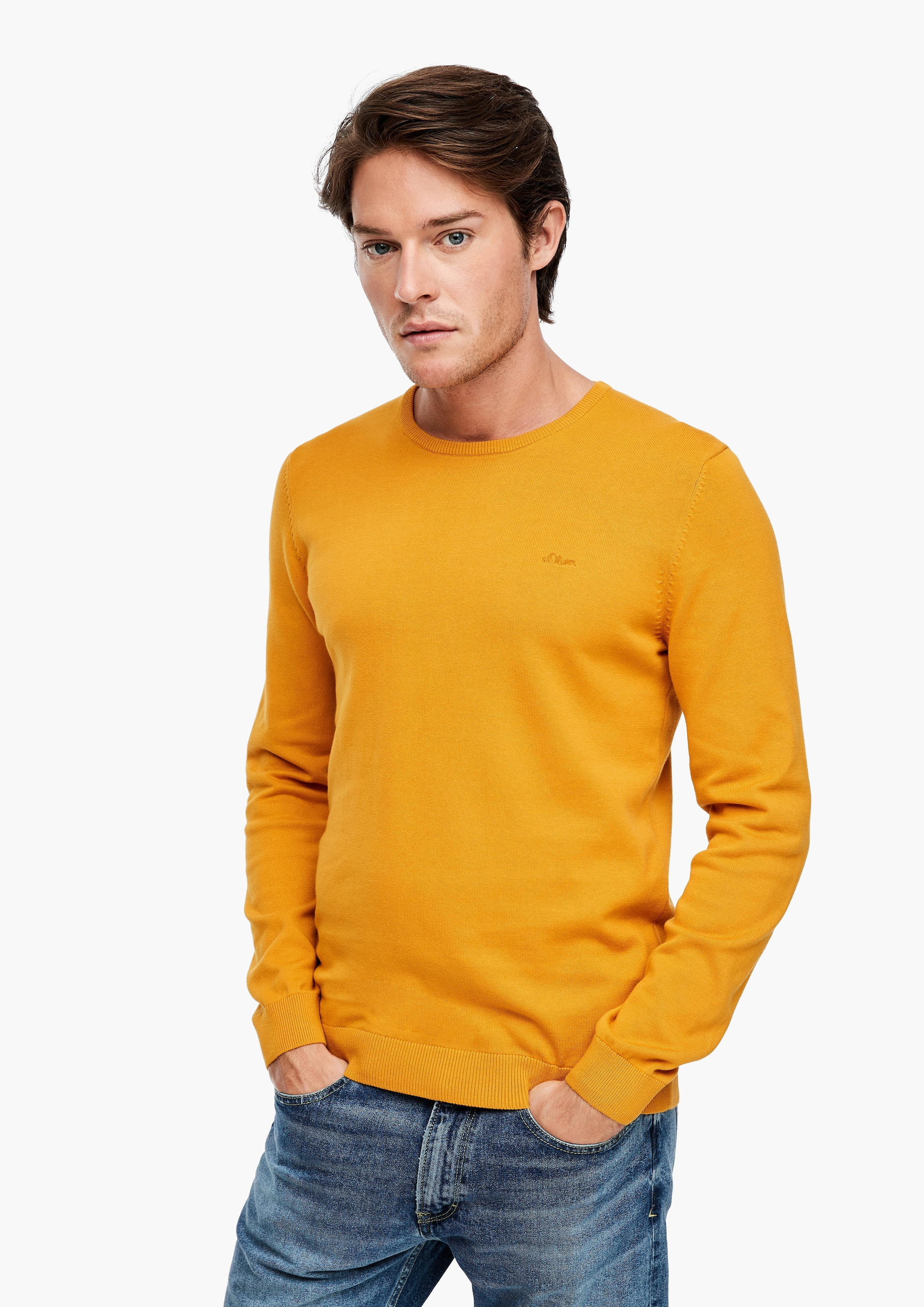 s.Oliver Pullover in gelb Unifarben 03.899.61.7625.1549.3XL