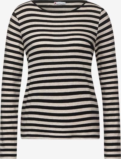 STREET ONE Shirt in creme / schwarz, Produktansicht