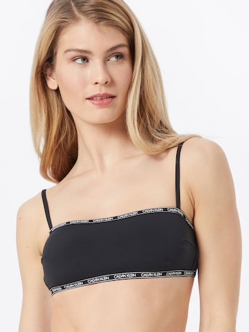 Calvin Klein Swimwear Bikinitop in Schwarz