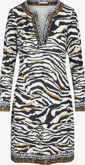 mint & mia Kleid in braun / ocker / schwarz / weiß, Produktansicht