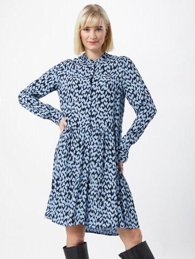 mbym Kleid 'Meera' in marine / hellblau, Modelansicht