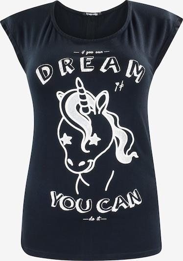 trueprodigy T-Shirt 'Unicorn' in schwarz / silber / weiß, Produktansicht