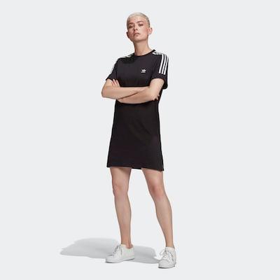 ADIDAS ORIGINALS Kleid in schwarz / weiß, Modelansicht