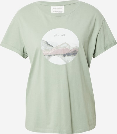 ARMEDANGELS Shirt 'NAALIN ODE TO EARTH' in mint / weiß, Produktansicht