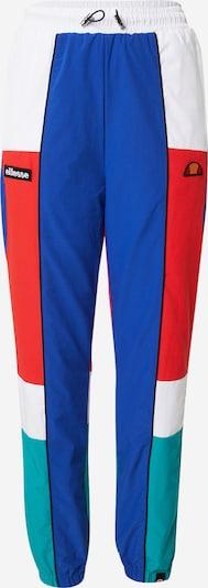 Pantaloni ELLESSE pe albastru / verde jad / roșu / alb, Vizualizare produs