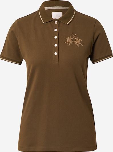 La Martina Shirt in de kleur Honing / Olijfgroen / Wit, Productweergave